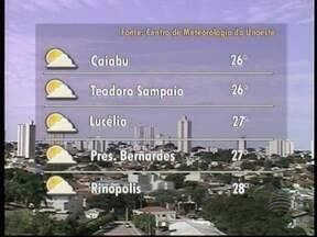 Frente fria perde força e temperaturas devem aumentar - Veja como ficam os termômetros em alguns municípios da região de Pres. Prudente.