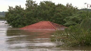 Rios transbordam e deixam casas debaixo d'água - Duzentas famílias tiveram que abandonar as casas