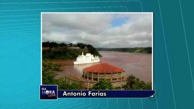 Barco fica a deriva no Rio Iguaçu - Telespectador fez imagens