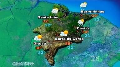 Veja como fica a previsão do tempo para esta terça (10) - Sol, tempo firme e seco, no centro-sul do Maranhão. No norte do estado, apesar do sol durante o dia, agora a tarde, devido ao aumento das temperaturas, há previsão de pancadas isoladas de chuva até início da noite.