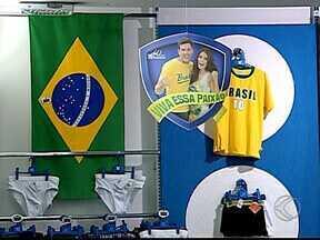 Comércio de Uberlândia se prepara para a combinação da Copa com o Dia dos Namorados - Casais investem em presentes românticos verde e amarelo.