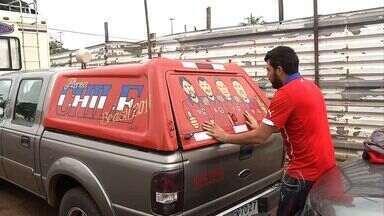 Parte de caravana chilena de torcedores chega a Ponta Porã (MS) - Os torcedores passam por MS para acompanhar a seleção chilena na Copa do Mundo
