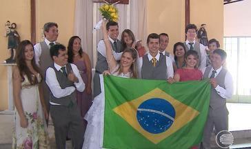 Copa do Mundo é inspiração para casamento e formação de famílias no Piauí - Copa do Mundo é inspiração para casamento e formação de famílias