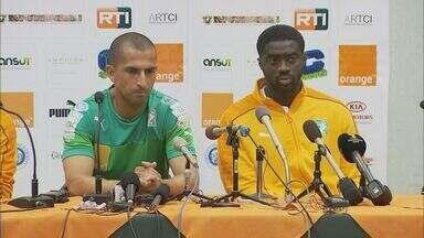 Seleção da Costa do Marfim participa de primeira coletiva - Seleção da Costa do Marfim participa de primeira coletiva