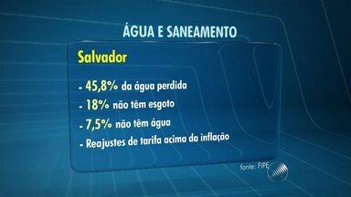 Embasa se defende de relatório apresentado pela Prefeitura de Salvador - A prefeitura pretende criar agência para fiscalizar os serviços de fornecimento de água e saneamento, após levantamento que aponta uma série de problemas na Embasa. O órgão reforça que a fiscalização cabe a agência reguladora do Estado.