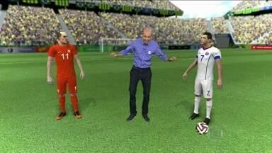 Leifert e Escobar falam sobre disputa em jogo decisivo entre Chile e Holanda - Leifert e Escobar analisam o perigo em pegar Chile ou Holanda na próxima fase da Copa. Eles falam sobre a agenda de jogos da próxima semana.
