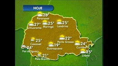 Segunda-feira de temperatura agradável em Londrina - O inverno, por enquanto, não está judiando. A temperatura máxima vai ficar em torno de 25 graus hoje. E nos próximos dias a previsão é de sol entre nuvens.