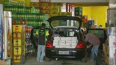 Comércio fica movimentado em dia de jogo do Brasil - Comércio fica movimentado em dia de jogo do Brasil