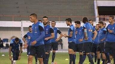 Confira como foi o treino da Grécia para enfrentar a equipe do Japão - Confira como foi o treino da Grécia para enfrentar a equipe do Japão