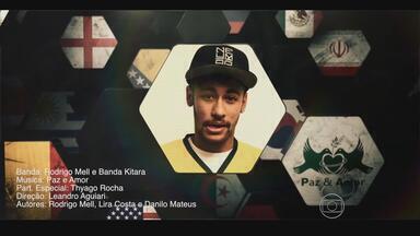 Banda Kitara lança campanha para promover a paz nos estádios - Cantores, ex-jogadores e o craque Neymar participaram do clip.