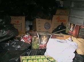 Mais de uma tonelada de fogos de artifício é apreendida no Centro de Garanhuns, PE - Ação busca combater a venda de produtos comercializados irregularmente.