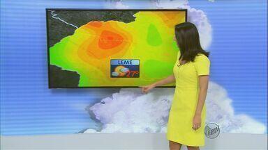Confira a previsão do tempo para a região de São Carlos neste sábado (28) - Confira a previsão do tempo para a região de São Carlos neste sábado (28)