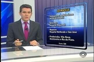 Governador anuncia credenciamento de hospital de Joinville para transplante de medula - Procedimento será realizado em crianças.