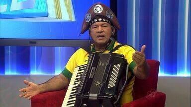 CETV recebe artistas cearesenses que entraram no ritmo da Copa - Mexicanos que foram presos devem ser transferidos para o presídio.