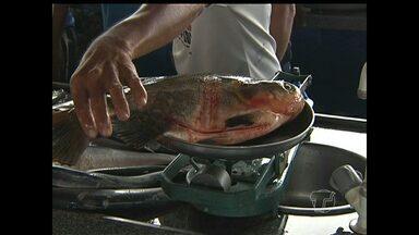 Cheia do rio deixa preço do peixe mais caro em Santarém, PA - Aumento do valor já é sentido pelos consumidores. Preços tendem a baixar a partir do mês de agosto.