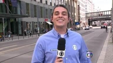 De Berlim, André Gallindo conta que na Alemanha a festa acabou cedo - Repórter conta que as ruas de Berlim estão bem tranquilas