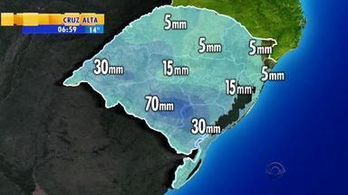 Tempo: frente fria atinge Fronteira Oeste do RS - Chuva na região de Uruguaiana e São Borja deve ser intensa.