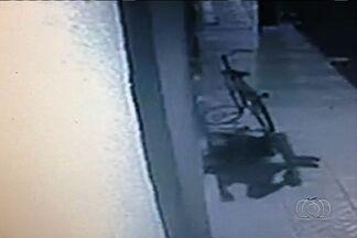 Câmeras registram furto em loja de Trindade - Três homens foram presos por furto, na madrugada desta terça-feira (15), em Trindade. De acordo com a polícia, eles foram capturados durante a terceira ação criminosa. Imagens de câmeras de segurança registraram um dos crimes.