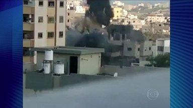 Escola da ONU é alvejada na guerra do Oriente Médio - A escola da ONU, em Beit Hanoun, servia de abrigo para famílias palestinas que perderam ou deixaram suas casas nesses 17 dias de conflito. Quinze pessoas morreram e mais de 200 ficaram feridas.