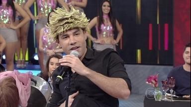 Edmilson diverte os convidados do Domingão - Rodrigo Santana arranca risadas da platéia e dos famosos