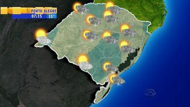 Tempo: instabilidade segue sobre o RS - Pode haver chuva em todas as regiões do estado.