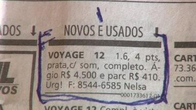Casal de primos são presos acusados de aplicar golpes em Goiás - Segundo a polícia, eles faziam anúncio de carros em jornais, recebiam um sinal em dinheiro e depois desapareciam com o valor.