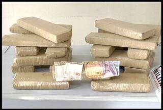 20 quilos de maconha são apreendidos em Governador Valadares - Droga estava dentro da mala do suspeito.