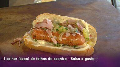 Veja receita de cachorro quente com presunto e abacaxi - Fernando Kassab dá dicas de como preparar o prato.