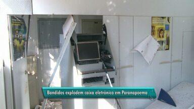 Bandidos explodem caixa eletrônico em Paranapoema - Moradores agora terão que ir até a cidade vizinha