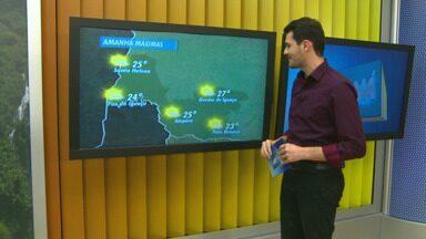 Tempo segue ensolarado no oeste e no sudoeste do estado - Em Foz do Iguaçu a máxima amanhã será de 24 graus.