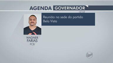 Confira os compromissos dos candidatos a governador - Candidatos a governador do estado divulgam agenda em período de candidatura.