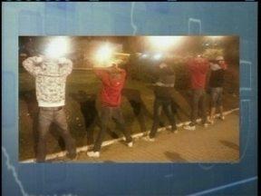 Jovens são presos por vandalismo em Lages - Jovens são presos por vandalismo em Lages