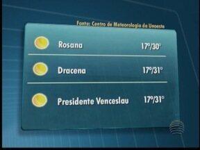 Veja como deve ficar o clima para esta terça-feira no Oeste Paulista - Confira as previsões das temperaturas de algumas cidades da região.
