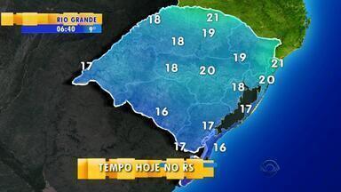 Tempo: massa de ar polar chega pelo Sul do RS e derruba temperaturas - Instabilidade permanece no Norte do estado por mais tempo.