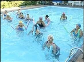 Hidroginástica é atividade física popular e efetiva para pessoas na terceira idade - Hidroginástica é atividade física popular e efetiva para pessoas na terceira idade