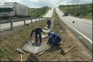Motoristas que passam por trecho da pela BR-101 na Bahia devem ficar atentos à obras - Na região de Feira de Santana são feitos trabalhos de recuperação e duplicação das pistas.