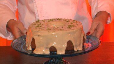 Aprenda como fazer de bolo de umbú - Receita pode ser adaptada com outros ingredientes.
