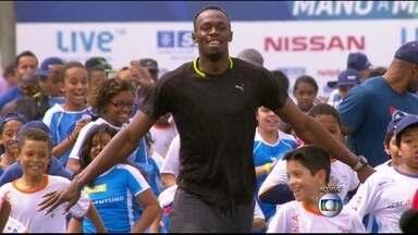 Jamaicano Usain Bolt participa de desafio na praia do Leme - O homem mais rápido do mundo vai estar em ação neste domingo (16), na Praia do Leme. O recordista mundial vai ter quer correr abaixo de 9 segundos e 80.