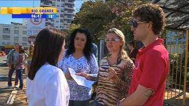 Concurso público tem confusão em Erechim, RS - Grupo não conseguiu realizar a prova.
