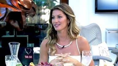 Gisele Bundchen toma café da manhã com Ana Maria - Top model conversa sobre alimentação e bem-estar