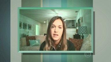 Heloísa Felício fala sobre terremoto na Califórnia - Jovem descreve os momentos te tensão que passou