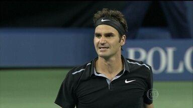 Roger Federer vira para cima de Gael Monfils e está nas semifinais do US Open - Suiço estava perdendo por 2 a 0, mas conseguiu vencer.