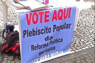 Igreja Católica do Alto Tietê faz plebiscito sobre reforma política no Brasil - Urnas estão espalhadas em frente as paróquias da região.