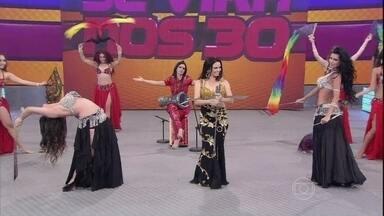 'Se Vira nos 30' tem linda exibição de Dança do Ventre - Grupo arrasa no palco do Domingão