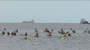 Remadores de todo o país se encontram em Campeonato Brasileiro de Canoagem Oceânica, no ES - Campeonato ocorreu neste fim de semana, em Vitória.