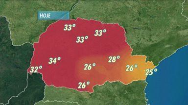 Previsão do tempo - Fim de semana quente no Paraná.