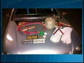 Presa quadrilha especializada em arrombamento de caixas eletrônicos - Prisão ocorreu em Iguatama. Polícia chegou aos envolvidos depois de um deles tentar invadir agência.