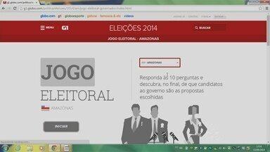 G1 Amazonas lança 'Jogo Eleitoral' com propostas de candidatos - Game deve ajudar eleitores a escolher candidatos para eleições deste ano.