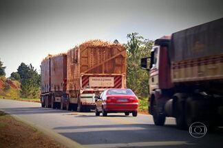 Segurança do transporte de cargas é desafio do próximo governador de SP - Tornar o transporte de mercadorias mais seguro, mais barato e também mais rápido é um dos desafios do próximo governador do estado de São Paulo. Caminhoneiros reclamam da qualidade ruim das estradas.