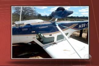 Avião monomotor cai na região da Chapada Diamantina - Segundo testemunhas, apesar do susto, ninguém se feriu.